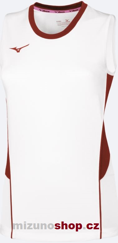 Mizuno V2EA720176 Authentic High-Kyu NS Shirt/White/Red