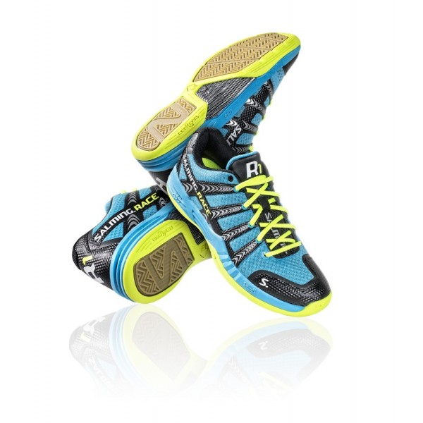 SALMING RACE R1 BLUE/YELLOW 13FW_RR1BY